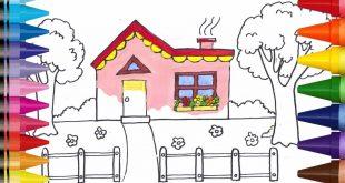 صورة طريقة رسم بيت , خطوة بخطوة كيف ترسم بيت