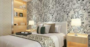 صورة ورق جدران لغرف النوم , اغلفه جدران مودرن لاوض النوم