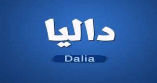 معنى اسم داليا , شرح اسم داليا