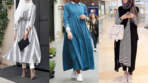 صور ملابس خروج للبنات المحجبات , ازياء نساء بالحجاب جديده