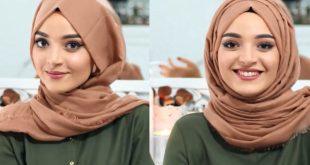 صورة طرق لف الحجاب , لفات طرح جديدة للمجبات اظهري جمالك
