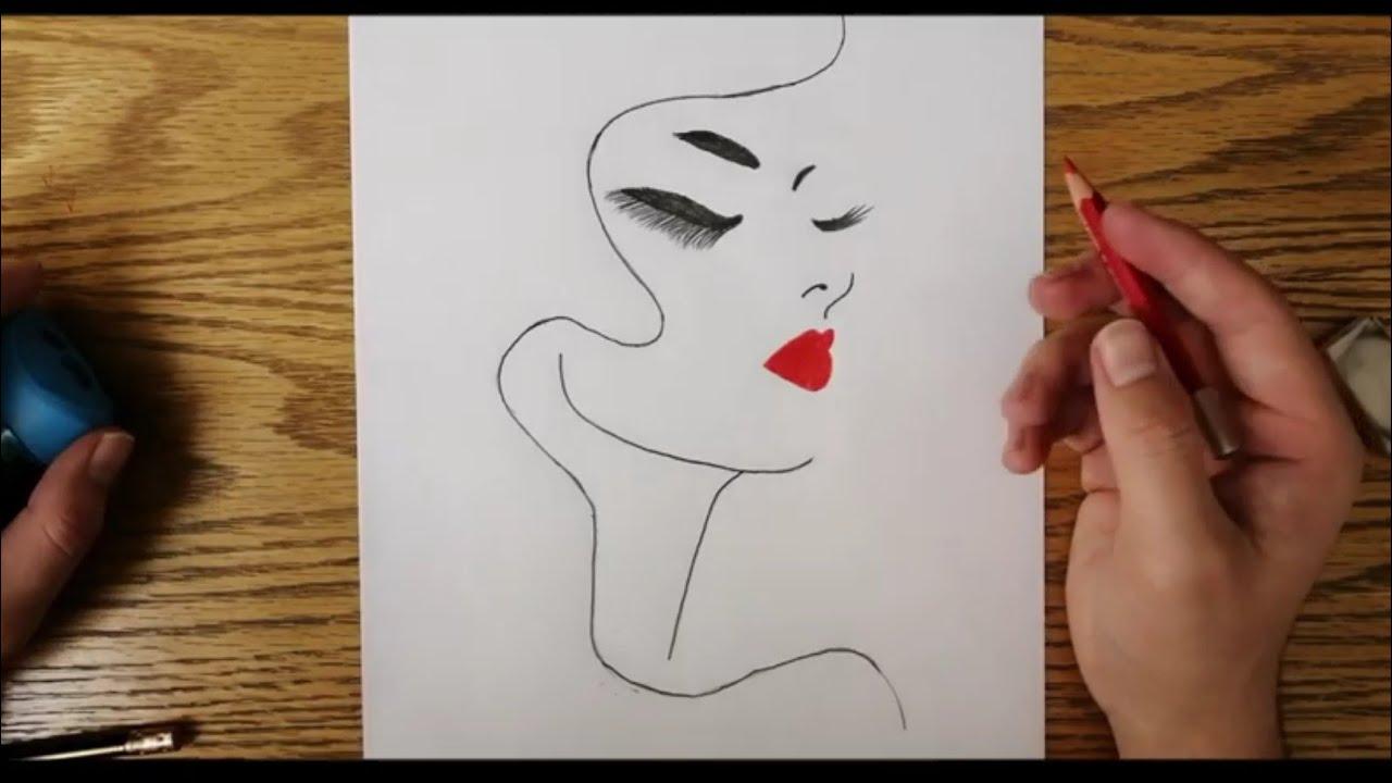 رسم سهل جدا تعليم الرسم للاطفال مساء الورد