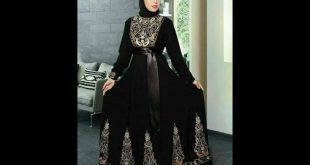 صورة ملابس محجبات 2019 , عبايات خروج حريمي